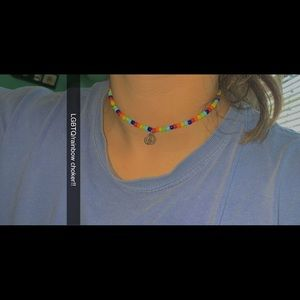 LGBTQ beaded necklace!!
